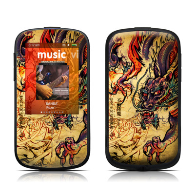SanDisk Sansa Fuze Plus Skin - Dragon Legend