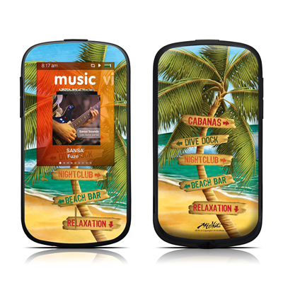 SanDisk Sansa Fuze Plus Skin - Palm Signs