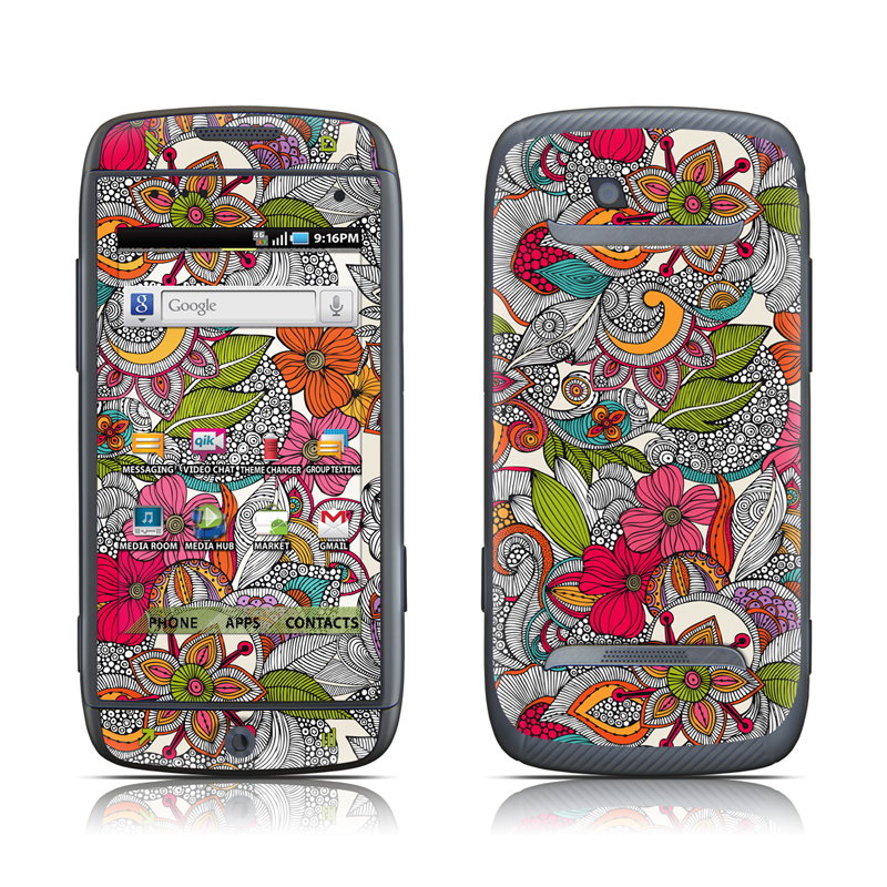 Samsung Sidekick 4G Skin - Doodles Color