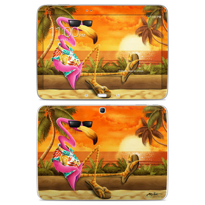 Samsung Galaxy Tab 3 10-1 Skin - Sunset Flamingo