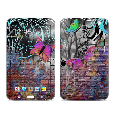 Samsung Galaxy Tab 3 7in Skin - Butterfly Wall