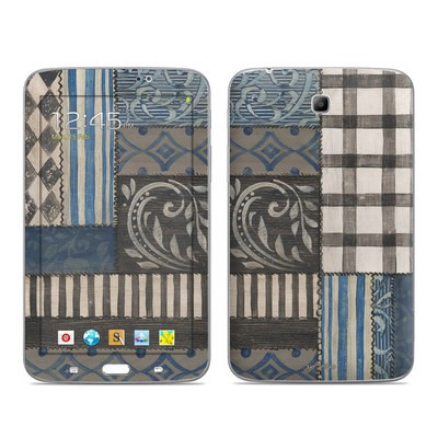Samsung Galaxy Tab 3 7in Skin - Country Chic Blue