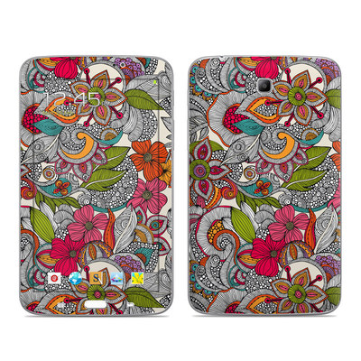 Samsung Galaxy Tab 3 7in Skin - Doodles Color