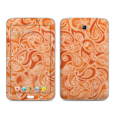 Samsung Galaxy Tab 3 7in Skin - Paisley In Orange