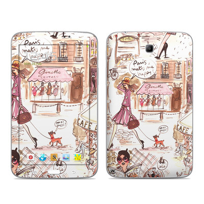 Samsung Galaxy Tab 3 7in Skin - Paris Makes Me Happy