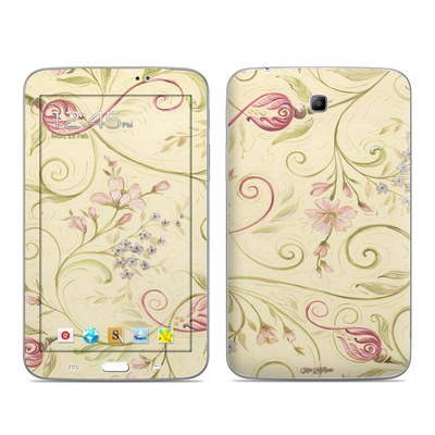 Samsung Galaxy Tab 3 7in Skin - Tulip Scroll