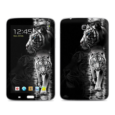 Samsung Galaxy Tab 3 7in Skin - White Tiger