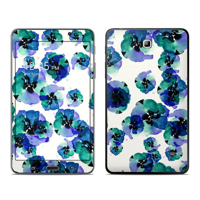 Samsung Galaxy Tab 4 7in Skin - Blue Eye Flowers