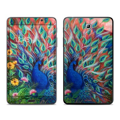 Samsung Galaxy Tab 4 7in Skin - Coral Peacock