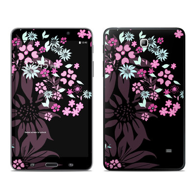 Samsung Galaxy Tab 4 7in Skin - Dark Flowers