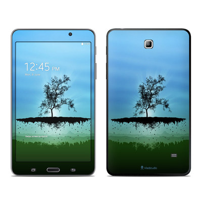 Samsung Galaxy Tab 4 7in Skin - Flying Tree Blue