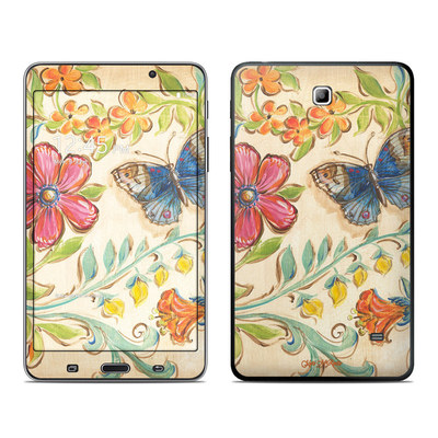 Samsung Galaxy Tab 4 7in Skin - Garden Scroll