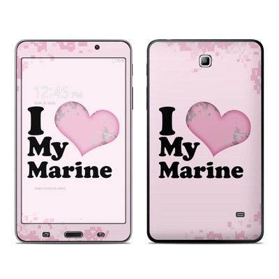 Samsung Galaxy Tab 4 7in Skin - I Love My Marine