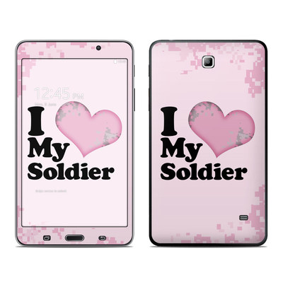 Samsung Galaxy Tab 4 7in Skin - I Love My Soldier