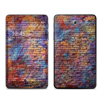 Samsung Galaxy Tab 4 7in Skin - Painted Brick