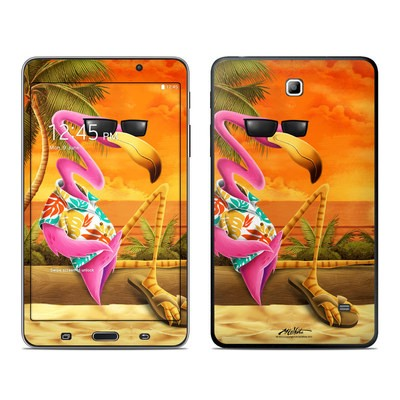 Samsung Galaxy Tab 4 7in Skin - Sunset Flamingo