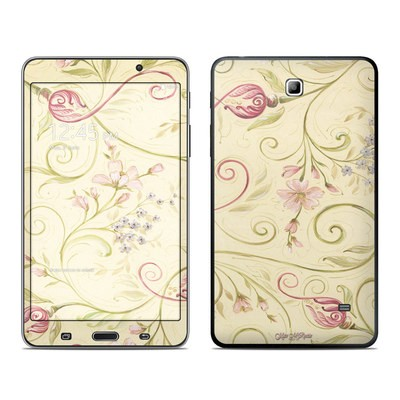 Samsung Galaxy Tab 4 7in Skin - Tulip Scroll