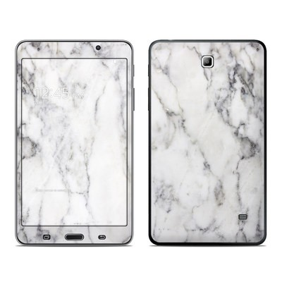 Samsung Galaxy Tab 4 7in Skin - White Marble