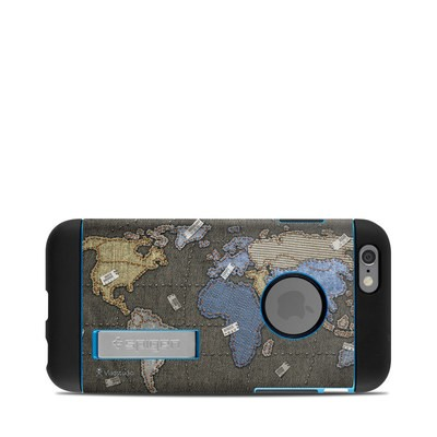 Spigen iPhone 6 Tough Armor Case Skin - Jean Map