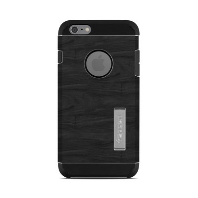 Spigen iPhone 6 Plus Tough Armor Case Skin - Black Woodgrain