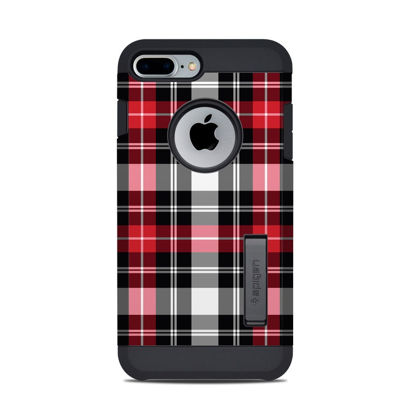 new style bbd31 b55f3 Spigen iPhone 7 Plus-8 Plus Tough Armor Case Skin - Red Plaid by DecalGirl  Collective