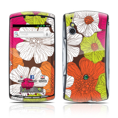 Sony Ericsson Xperia Play Skin - Brown Flowers