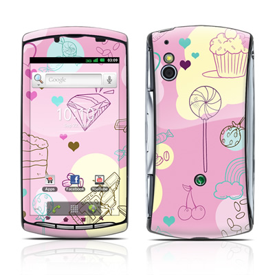Sony Ericsson Xperia Play Skin - Pink Candy