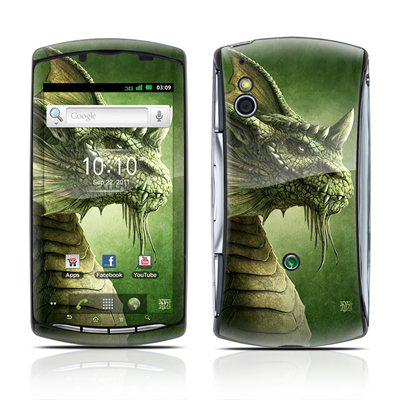 Sony Ericsson Xperia Play Skin - Green Dragon