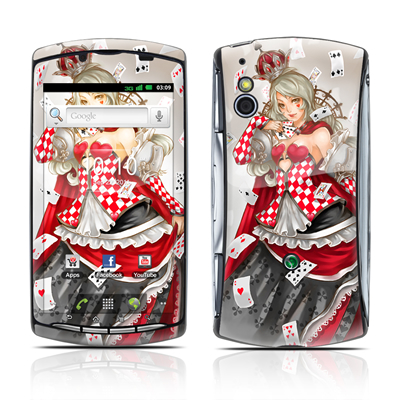Sony Ericsson Xperia Play Skin - Queen Of Cards