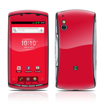 Sony Ericsson Xperia Play Skin - Solid State Red