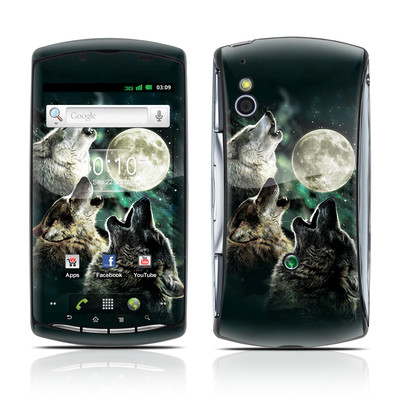 Sony Ericsson Xperia Play Skin - Three Wolf Moon