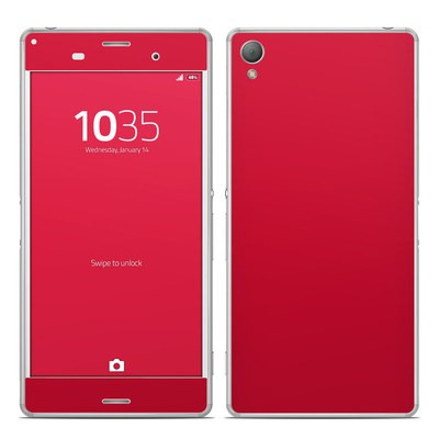 Sony Xperia Z3 Skin - Solid State Red