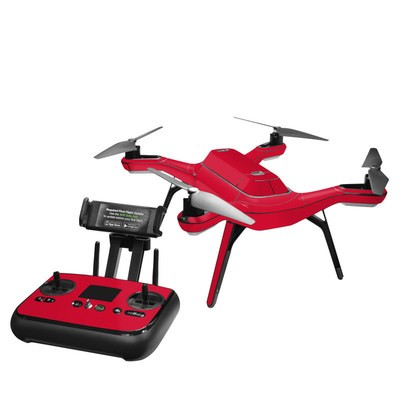 3DR Solo Skin - Solid State Red