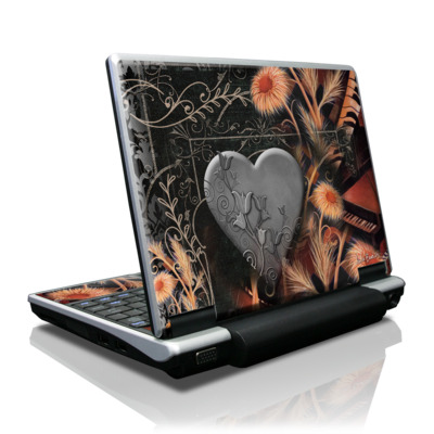 Toshiba NB100 Skin - Black Lace Flower