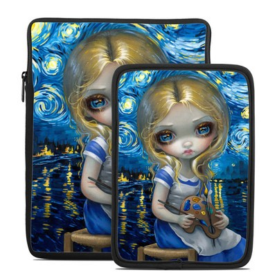 Tablet Sleeve - Alice in a Van Gogh