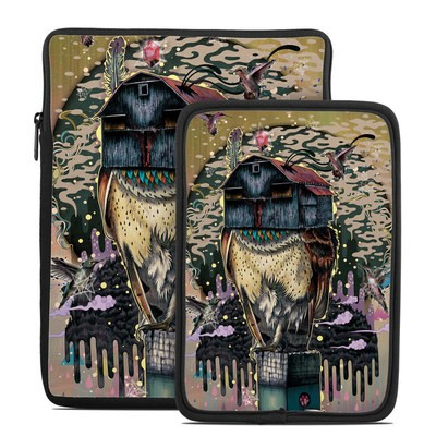 Tablet Sleeve - Barn Owl Fortune