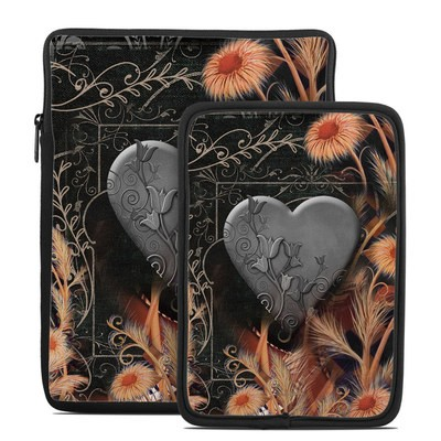 Tablet Sleeve - Black Lace Flower