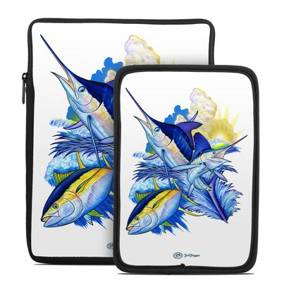 Tablet Sleeve - Blue White and Yellow
