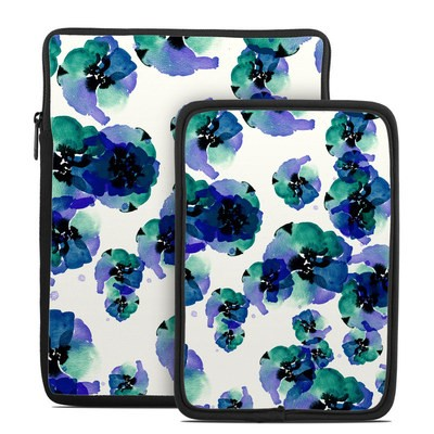 Tablet Sleeve - Blue Eye Flowers