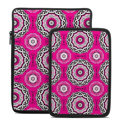 Tablet Sleeve - Boho Girl Medallions