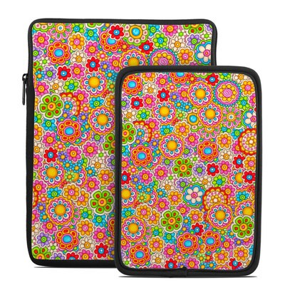 Tablet Sleeve - Bright Flowers