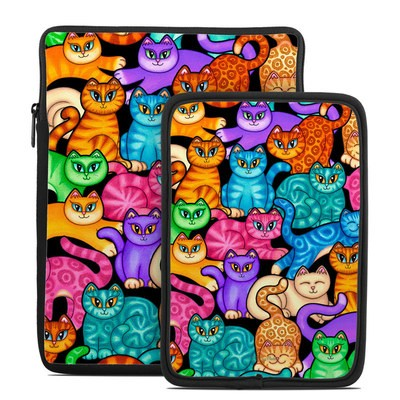 Tablet Sleeve - Colorful Kittens
