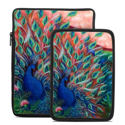 Tablet Sleeve - Coral Peacock