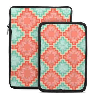Tablet Sleeve - Coral Diamond