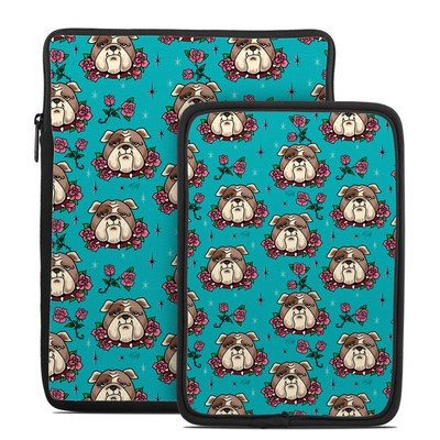 Tablet Sleeve - Bulldogs and Roses