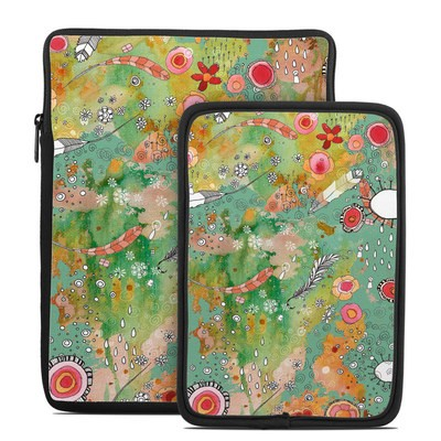 Tablet Sleeve - Feathers Flowers Showers
