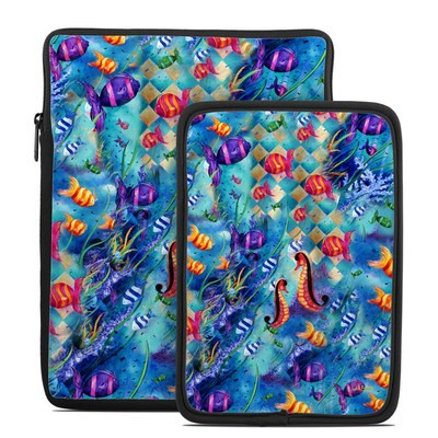Tablet Sleeve - Harlequin Seascape
