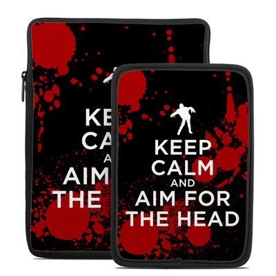 Tablet Sleeve - Keep Calm - Zombie