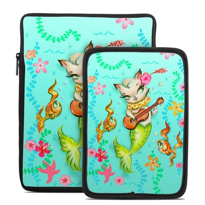 Tablet Sleeve - Merkitten with Ukelele