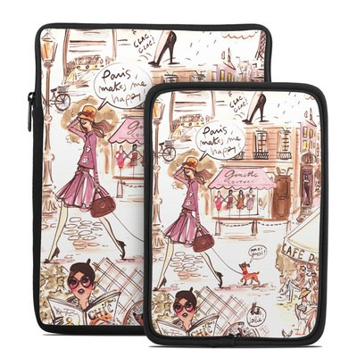 Tablet Sleeve - Paris Makes Me Happy